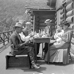 Dinner at Clark's Lodge, Mt. Tabor, Vt., August 15,1909