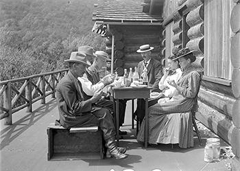 Dinner at Clark's Lodge, Mt. Tabor, Vt., August 15,1909