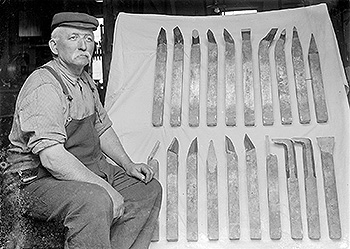 Horace Hayward with tools for export