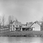 Horace Hayward's home on pond in Londonderry