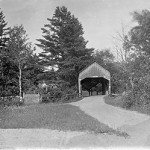 Covered bridge entering Londonderry from the west, around 1912